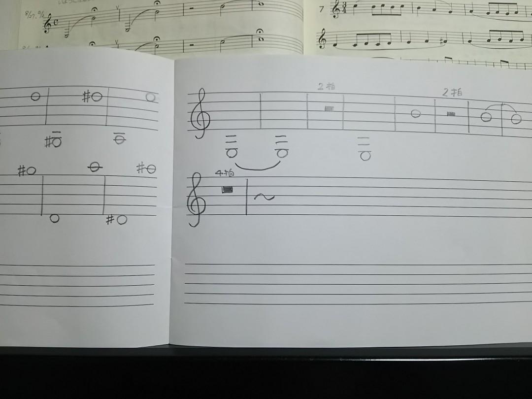 手書きの楽譜