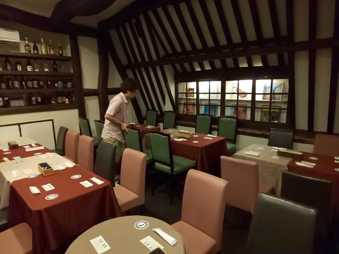 クラリネットライブ会場となるレストラン