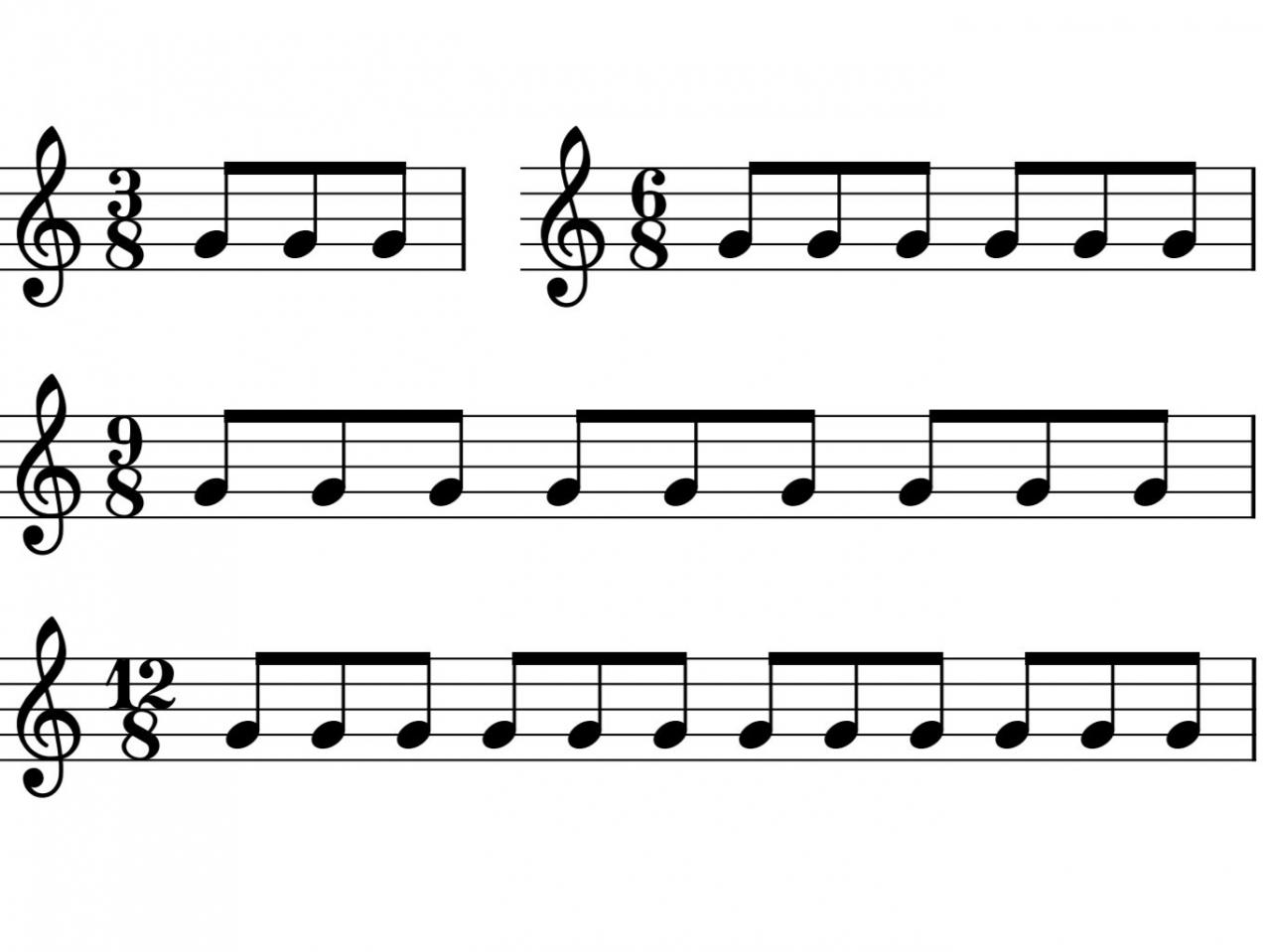 割り切れる8分の〇拍子の楽譜