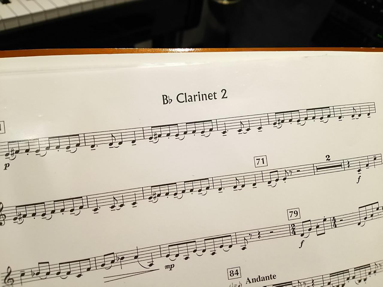吹奏楽のパート譜