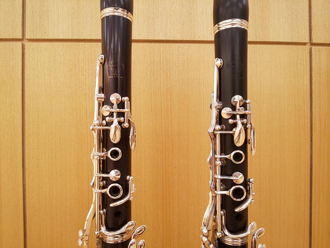 B♭管とA管の上管の比較