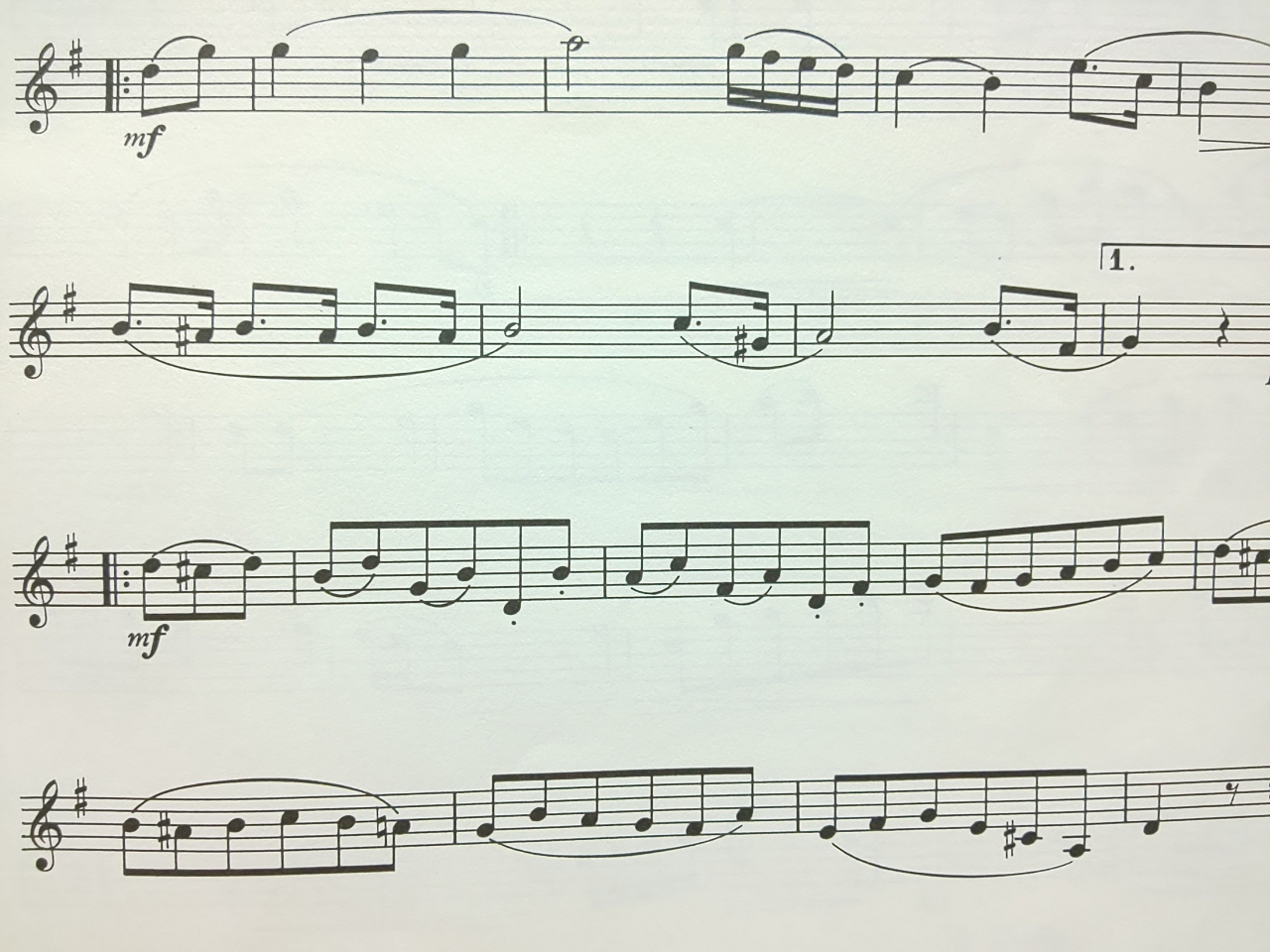 アーティキュレーションの練習になる曲の楽譜サンプル